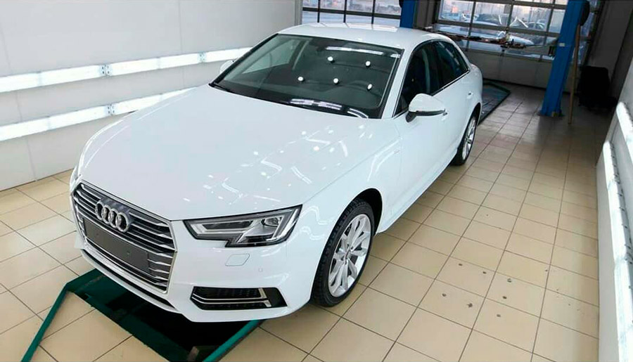 Покрытие кузова автомобиля Audi жидким стеклом
